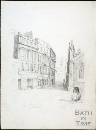 Marshal Wade's House in Abbey Church Yard, Bath c.1930