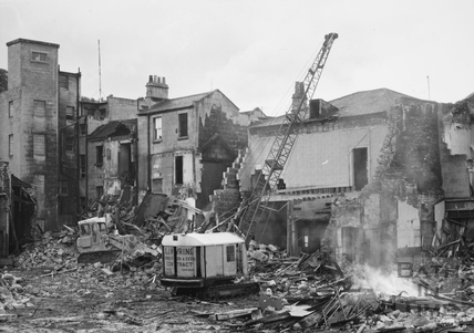 Southgate Street, Bath being demolished 1971