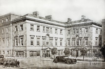 An impression by a Bath architect of a redevelopment of frontages to the Inner Ring Road at Upper Borough Walls, Bath