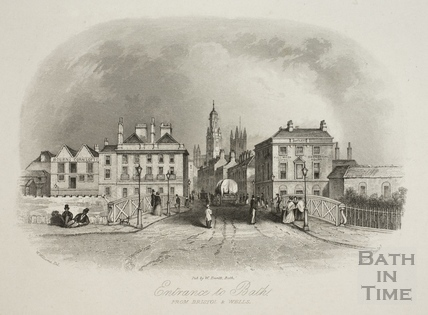 Entrance to Bath from Bristol and Wells 1850