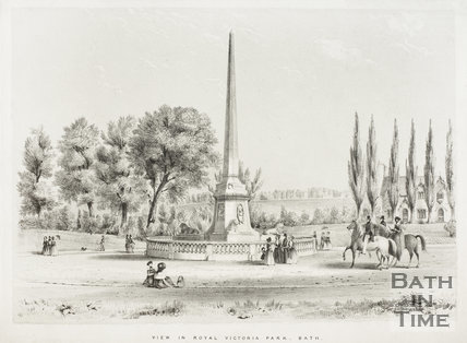 View in Royal Victoria Park, Bath c.1840