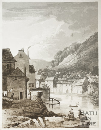 No. 38. Scene near the Old Bridge, Bath 1824