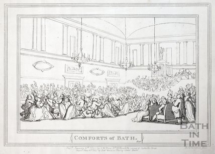 Comforts of Bath, Plate 10. The Upper Assembly Rooms, republished 1857