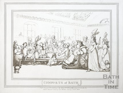 Comforts of Bath, Plate 11 1798, republished 1857 - detail