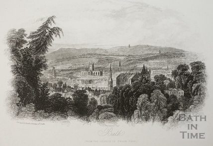 Bath, from the vicinity of Prior Park 1838