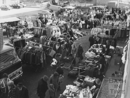 Market at Twerton Football Ground, Bath 1972