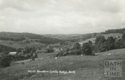 Monkton Combe Valley, view from Brassknocker Hill c.1940