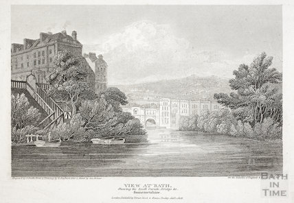 View at Bath Shewing the South Parade, Bridge & c. Somersetshire 1808