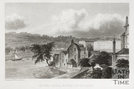 Monk's Mill, River Avon, Bath 1830