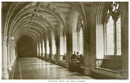 Downside Abbey, West Cloister, c.1950s?