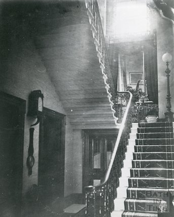 Staircase in Vellore House, c.1910