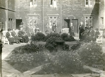 Elderly residents at Saint Catherine's Hospital, Bath c.1920s
