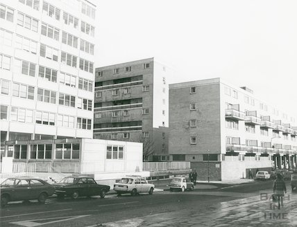 Kingsmead Square and Rosewell Court, March, 1973.