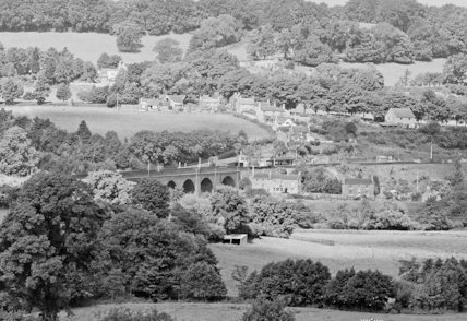 View of Midford c.1930 - detail