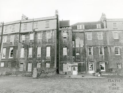 Royal Crescent Hotel, rear, December 1981