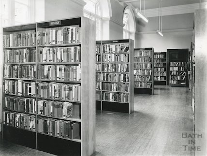 Bath Lending Library, Bridge Street - inner hall, ground floor, 1965