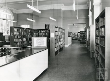 Bath Lending Library - showing completed extension and re-arrangement June, 1965
