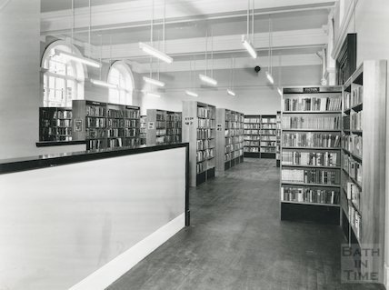 Bath Lending Library - showing extension and re-arrangement June, 1965