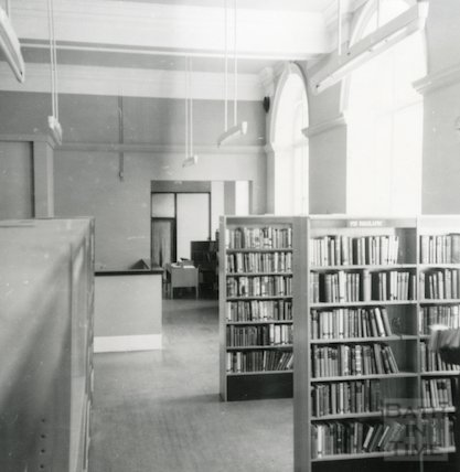 Bath Lending Library following alteration - view towards enquiry desk June, 1965