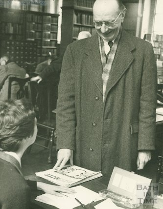 Bath Municipal Library routine work - giving assistance to readers, c.1950s