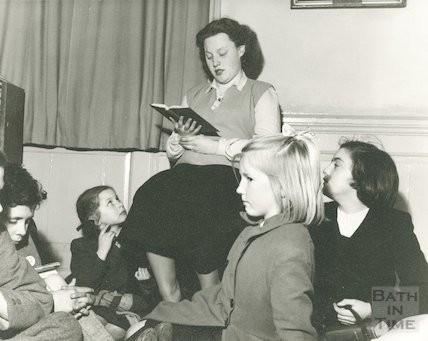 Bath Municipal Library children's story time, c.1960s