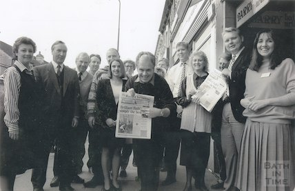 Moorland Road traders flowering achievement, 12 October 1994