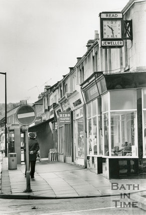 Local shops at Moorland Road, Oldfield Park, 6 October 1990