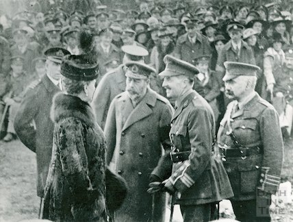King George V and Queen Mary in Bath c.1917