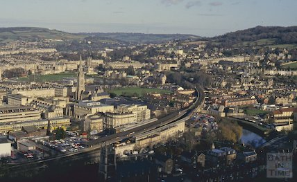 View of Bath from Beechen Cliff, January 1993