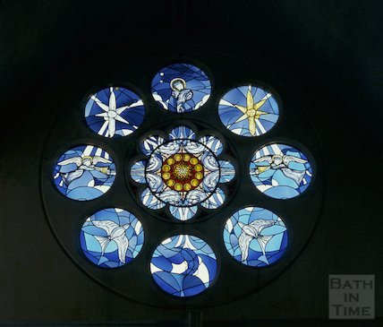 Stained glass window, Claremont Methodist Church, May 1993