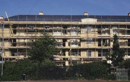 Kingsmead flats undergoing renovation July 1993