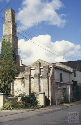 Derelict buildings, next to T Davis, Milk Street, October 1993