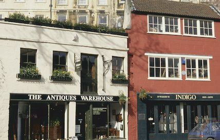 The Antiques Warehouse and Indigo, Walcot Street, April 1994