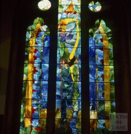 New stained glass window, St Stephen's Church, Lansdown, October 1994