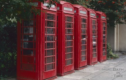 Telephone boxes on Dorchester Street, October 1994