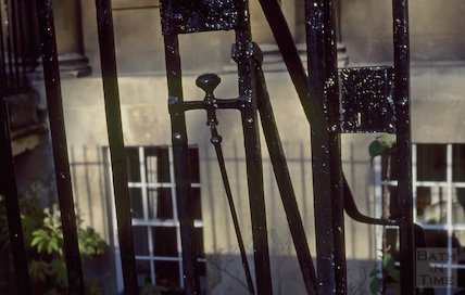 Detail of ironwork, Circus, December 1994