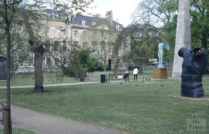 Sculptures in Queen Square, May 1996