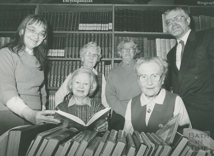 Presentation of book tokens to long serving housebound library volunteers, January 1990
