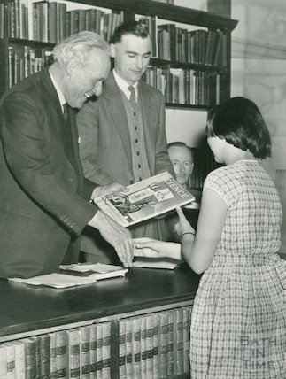 Opening of the Converted Lending Library, Bridge Street, 1958