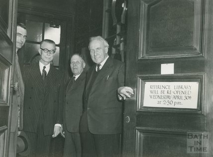 Opening of the Converted Reference Library, Bridge Street, April 30, 1958