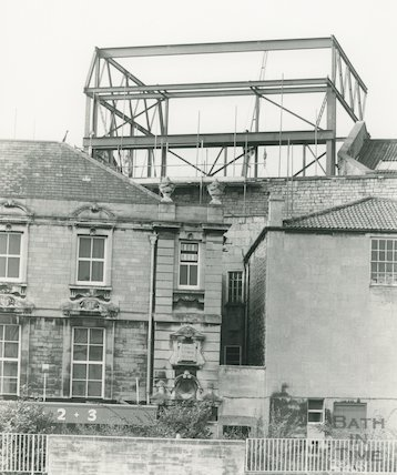 New fly Tower, Theatre Royal, 1982