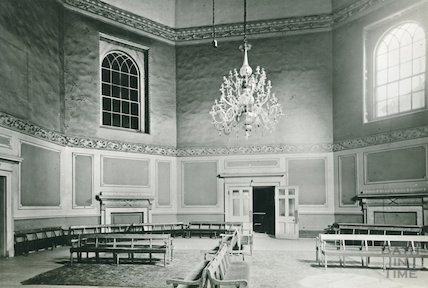 The Octagon Room before restoration, Assembly Rooms, c.1930