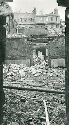 Assembly Rooms, Bath after bombing in the Bath Blitz, April 1942