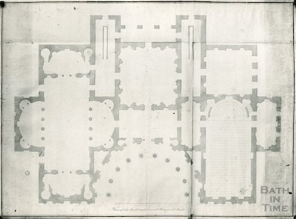 Assembly Rooms Plan of the Ball and Concert Rooms at Bath, by Robert Adam, c.1760s