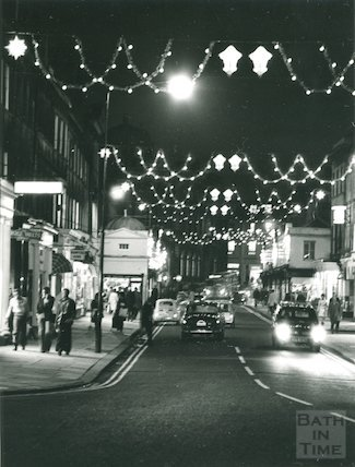 Christmas Illuminations in Argyle Street, 1974