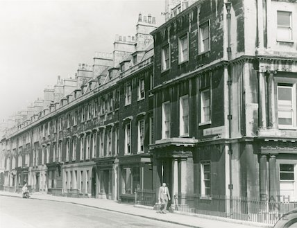 Brock Street - North side from Circus to Margaret's Buildings, c.1950s