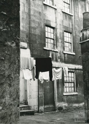 Washing hanging out to dry, Walcot Street Rear, c.1960s