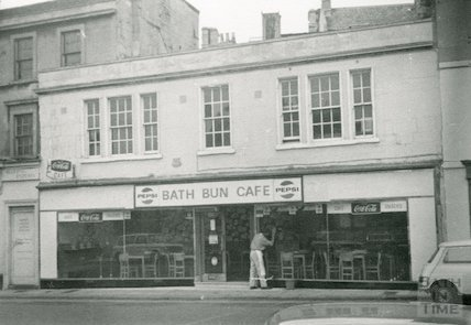 The Bath Bun Cafe, 5-7 Walcot Street, 1969
