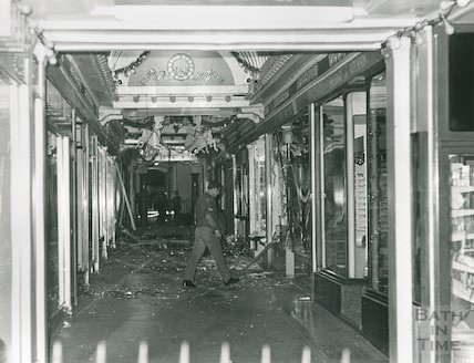 After the IRA Bomb Blast in the Corridor, Bath, 1974