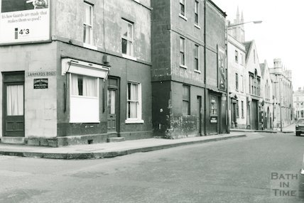 Corner of Lampards Buildings, east along Julian Road to Riding School, 1966